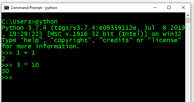 Download and install Python